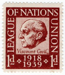(I.B) Cinderella Collection : League of Nations Union 1d