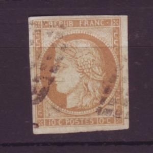 J20105 jlstamps 1863-70 france used imperf #42 bordeaux