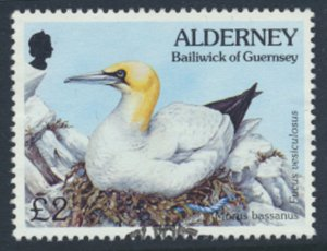 Alderney  SG A77  SC# 87  Birds Used First Day Cancel - as per scan