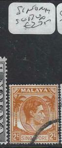 SINGAPORE  (P1404BB)  KGVI  2C  SG 17   VFU