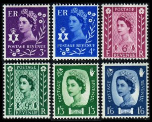 GB Northern Ireland QEII 1957 SgN11/SgN16 Wmk Multiple Crown MNH