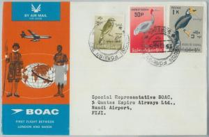 72178 - BURMA - FIRST FLIGHT: London - Nandi to FIJI 1965 - BIRDS - BOAC
