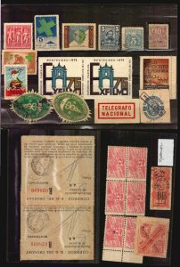 Uruguay stamps philatelly revenues cinderella official seals etc oddities old