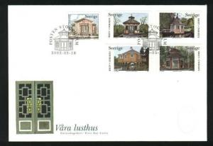 Sweden. FDC Cachet 2003. Our Summer Houses.