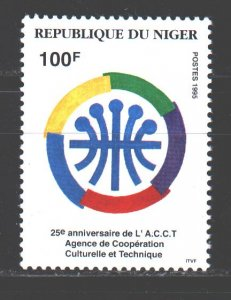 Niger. 1995. 1164. Agency for Cultural and Technical Cooperation in Africa. MNH.