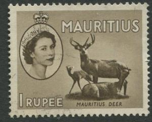 Mauritius - Scott 262 - QEII Definitives -1954 -VFU -Single 1r Stamp