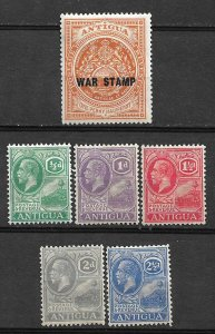 COLLECTION LOT #447 ANTIGUA 6 STAMPS MH 1918+ CV+$41 2 SCAN