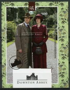 Guyana 2014 MNH Downton Abbey Lady Mary Matthew Crawley 1v S/S TV Series Stamps
