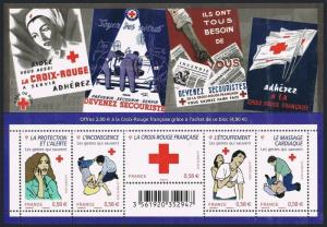 France B720 ae sheet,MNH. Red Cross 2010.
