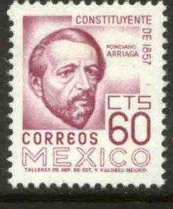 MEXICO 1092, 60¢ 1950 Defin 9th Issue Unwmkd Fosfo Glazed. MINT, NH. F-VF.