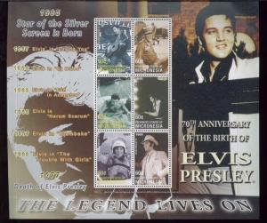 ELVIS PRESLEY Commemorative Sheets THE LEGEND LIVES ON / Micronesia #635 -636