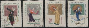 VIETNAM, 196-198, (4) SET, USED, 1962, FOLK DANCES