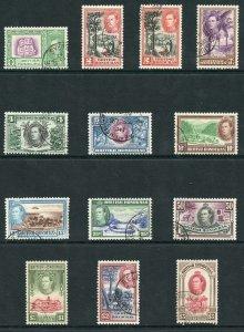 British Honduras SG150/61 (15c fault) Set of 12 Fine Used
