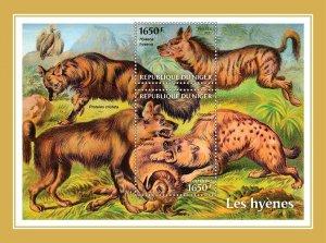 NIGER - 2021 - Hyenas - Perf Souv Sheet -Mint Never Hinged