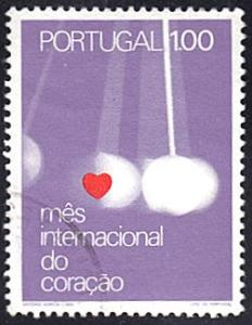 Portugal # 1138 used ~ 1e Heart and Pendulum