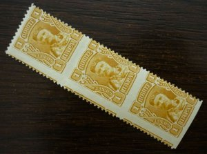 Montenegro c1907 Strip Of 3 Postage Stamps IMPERFORATED  C1