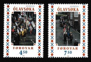 Faroe Is. National Festivals Europa CEPT 2v SG#346-347 SC#336-337