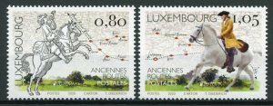 Luxembourg Europa Stamps 2020 MNH Old Postal Routes Services Horses 2v Set
