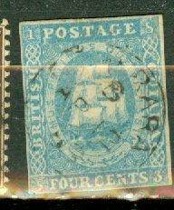 B: British Guiana 10 used CV $850