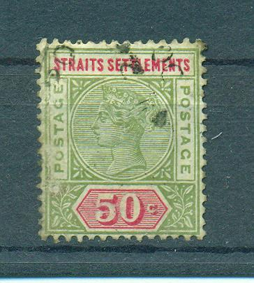 Straits Settlements sc# 87 (2) used cat value $3.00