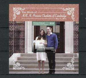 Union Island Grenadines Vincent 2015 MNH Princess Charlotte Birth Royal Baby 1v