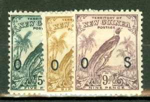 B: New Guinea O23, 25-6, 28-33 mint CV $146; scan shows only a few