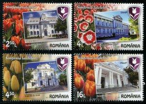 HERRICKSTAMP NEW ISSUES ROMANIA Sc.# 5928-31 Tulips
