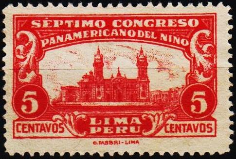 Peru. 1930 5c S.G.473 UnUsed/No Gum