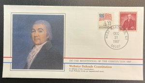 US #1121,2115 On Cover - Bicentennial of Constitution 1787-1987 [BIC47]