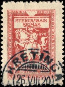 LITUANIE / LITHUANIA - 1920 - KRETINCA  cds on Mi.76
