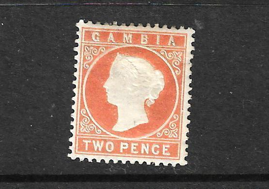 GAMBIA 1886-93  2d  ORANGE  QV  MLH   SG 24