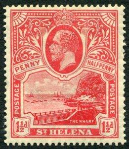 ST HELENA-1922 1½d Rose-Scarlet Sg 90 MOUNTED MINT V33838