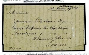 H181 EGYPT DISINFECTED DIPLOMATIC MAIL *Alexandria* Letter 1843 Cover