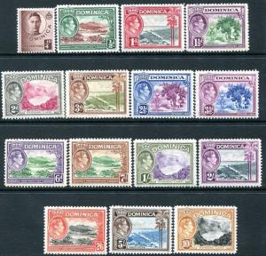 DOMINICA-1938-47 Set to 10/- Sg 99-109a MOUNTED MINT V24003