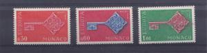 MONACO  1968  S  G  911 - 913   EUROPA KEY   M / N / H   E 622