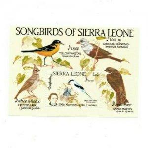 Sierra Leone MNH S/S 675 Songbirds Of Sierra Leone