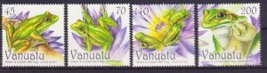 VANUATU GREEN & GOLDEN BELL FROG SET OF 4 MNH 2011 FAUNA REPTILE