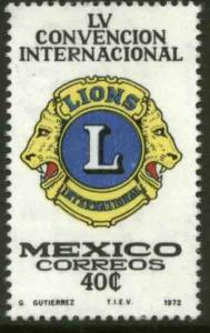 MEXICO 1040 55th Lions International Convention MINT, NH. VF.