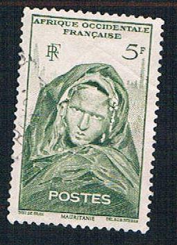 French West Africa 48 Used Woman of Mauritania (BP10215)