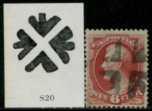 #148 F-VF USED WITH SCARCE FANCY NY FOREIGN MAIL CANCEL BQ3457