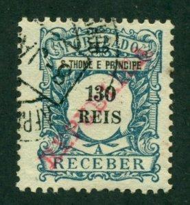 St. Thomas & Prince 1911 #J18 U SCV(2020)=$0.80