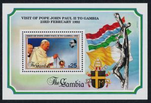 Gambia 1196 MNH Pope John Paul II, Flags, Crest