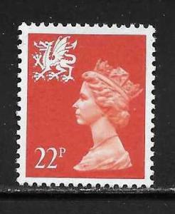 Great Britain Wales WMMH42 22p Machin MNH