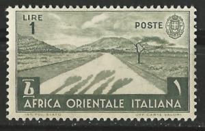 Italian East Africa # 12  Desert Road  (1) Unused VLH