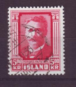 J19178 Jlstamps 1954 iceland used #286