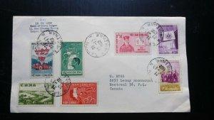 """VERY RARE 1962 VIETNAM """"BANK OF SAIGON"""" COVER TO MONTREAL CANADA UNIQUE DESTINAT"""