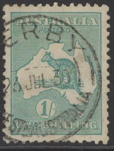 AUSTRALIA SG109 1929 1/= BLUE-GREEN DIE IIB USED
