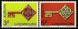 Luxembourg 1968 S.G. 821-822 MNH (1339)