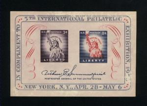USA #1075  SS Mint NH VF  1956 PD 1.40