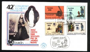 Vatican City 687-690   FDC   used VF  1981 PD